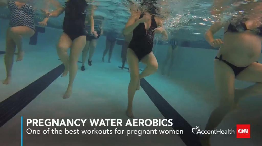 pregnancy water aerobics cnn underwater